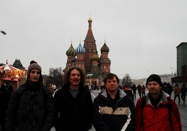Aliens in Moscow: (from the right) Guntram, Zoltan, Bartosz and me